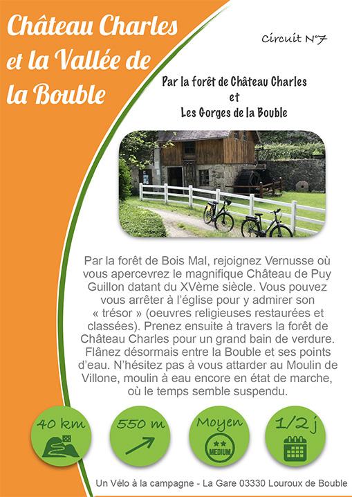 Un vélo à la campagne circuit Château Charles et la vallée de la Bouble